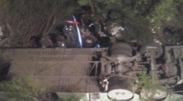 ВАргентине смоста упал автобус ссотрудниками жандармерии, 30 человек погибли
