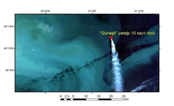 Азербайджан будет следить заразливами нефти наместорождении Гюнешли соспутника