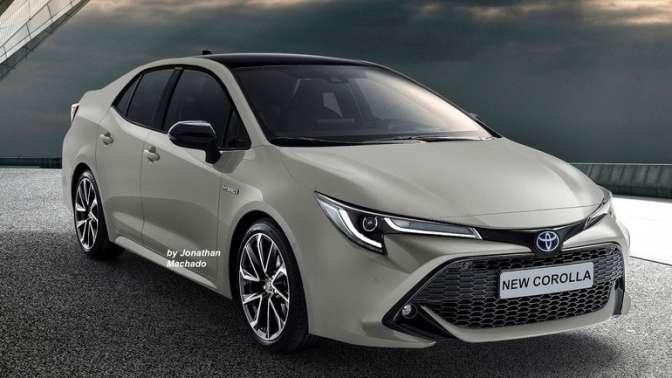 Тоёта готова представить седан Corolla обновленного поколения