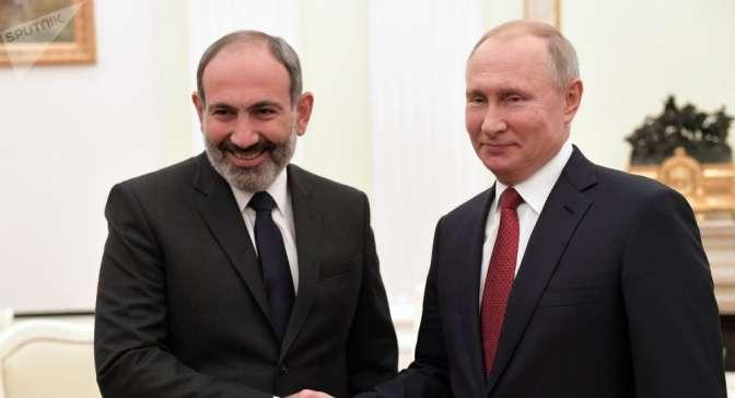Путин поддержал сотрудничество РФ иАрмении всфере безопасности
