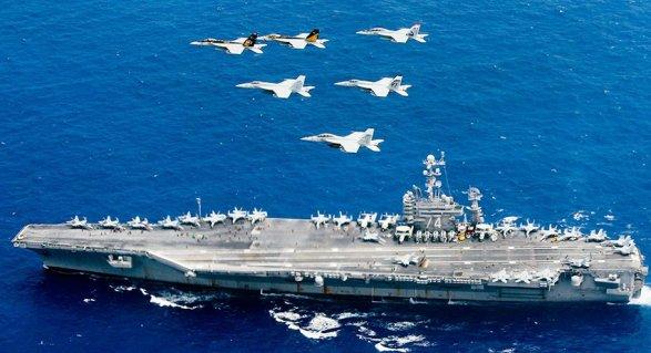 СМИ говорили о пуске иранских ракет вблизи авианосца США