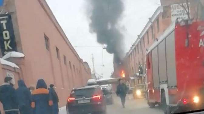 НаВасильевском острове произошёл взрыв ипожар