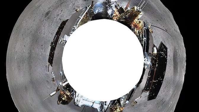 Китайский космический аппарат «Чанъэ-4» прислал панорамные кадры собратной стороны Луны