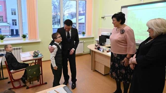ВИстре открыли пристройку блока начальных классов кшколе №3