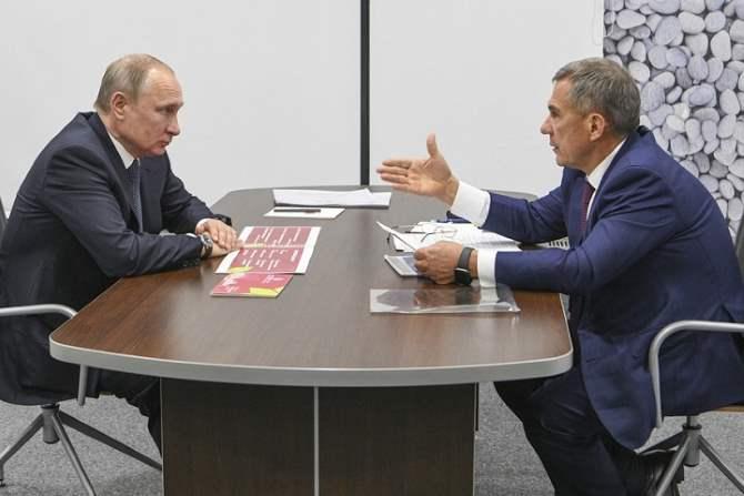 Песков разъяснил шутки В. Путина вадрес руководителя Татарстана доверительными отношениями