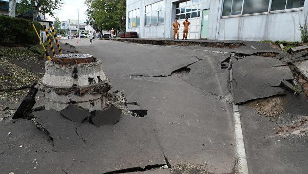 Насевере Японии случилось землетрясение магнитудой 5,7