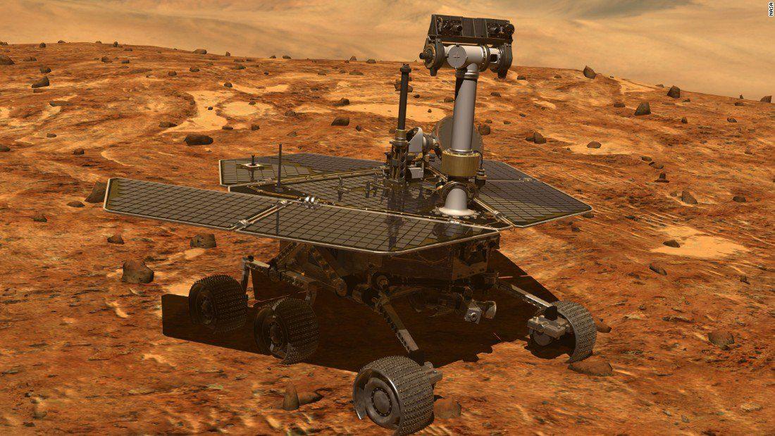 Марсоход NASA Opportunity завершил миссию, которую начал в 2004г