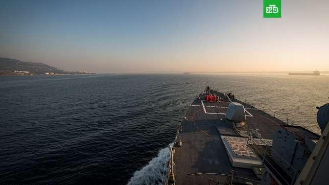 Американский эсминец направился вЧерное море