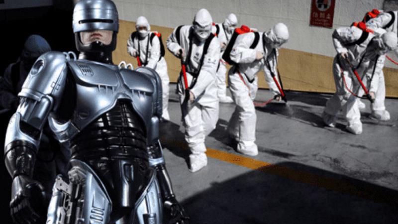 Для борьбы с пандемией на улицы выпустили Робокопов версии 1.0.