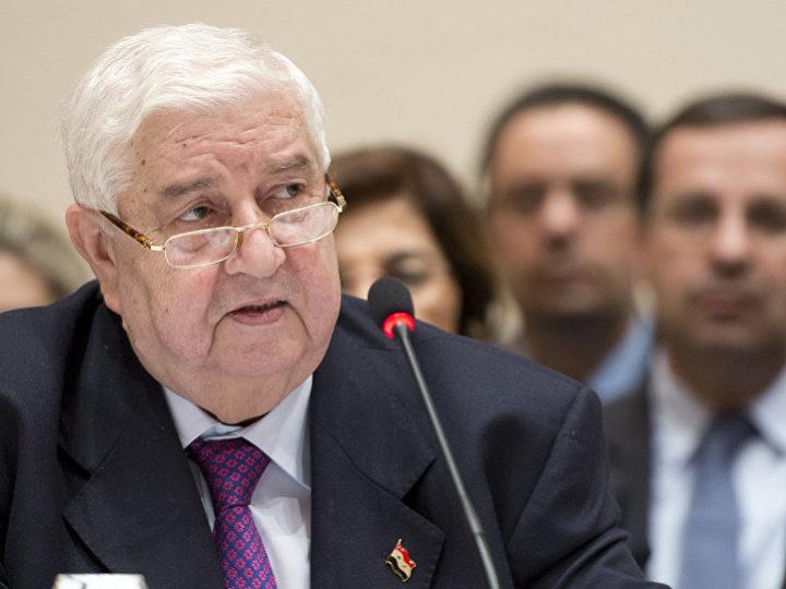 Министр иностранных дел Сирии призывает страны, находящиеся под санкциями, «сомкнуть против них ряды»
