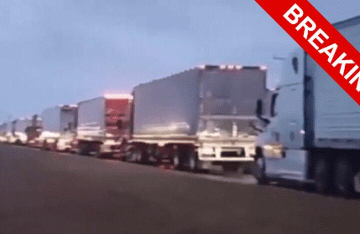 В США началась забастовка водителей грузовиков